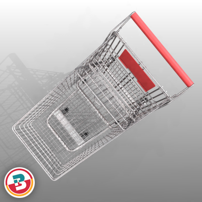 3D Model of Grocery Store Shopping Cart - 3D Render 7