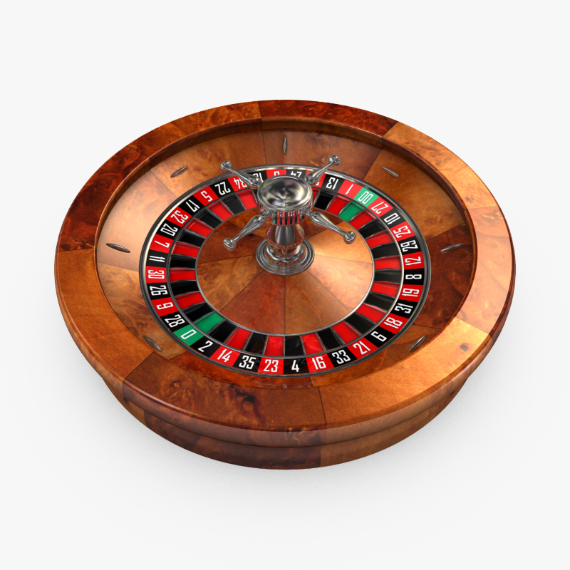 3D Model of High Detail American Roulette Wheel - Animated - 3D Render 0