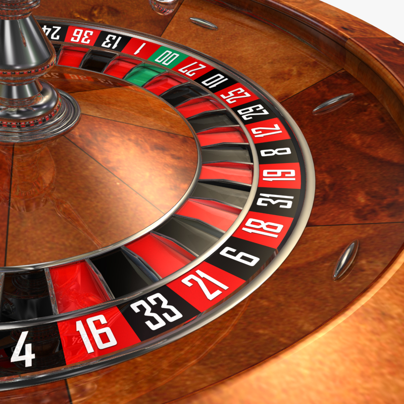 3D Model of High Detail American Roulette Wheel - Animated - 3D Render 1