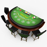 Preview image for 3D product Casino Blackjack Table - Green
