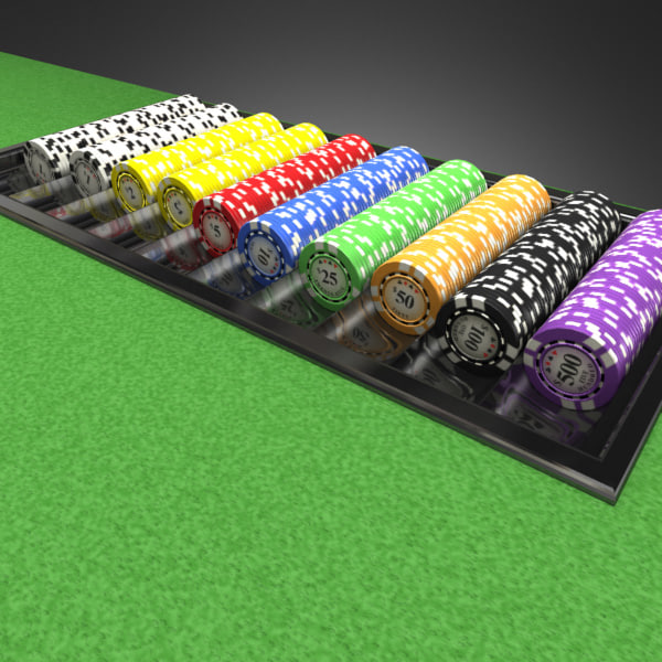 3D Model of Casino Collection :: Realistic Detailed BlackJack Table complete with chips, cards, etc. - 3D Render 7