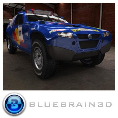 3D Model of 2008 Dakar Rally - 3D Render 0