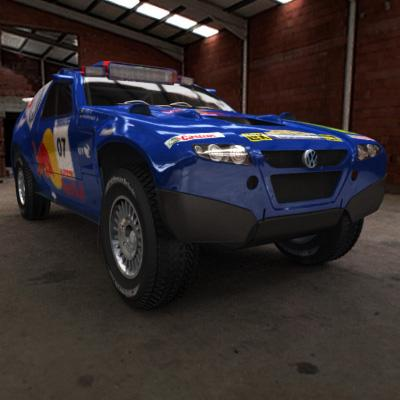 3D Model of 2008 Dakar Rally - 3D Render 1