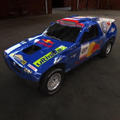 3D Model of 2008 Dakar Rally - 3D Render 2