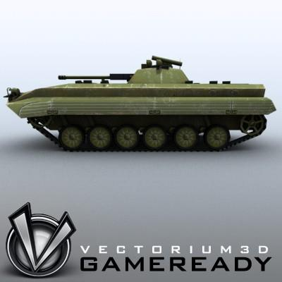 3D Model of Low-poly Soviet AFV BMP-2 - 3D Render 3