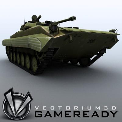 3D Model of Low-poly Soviet AFV BMP-2 - 3D Render 4