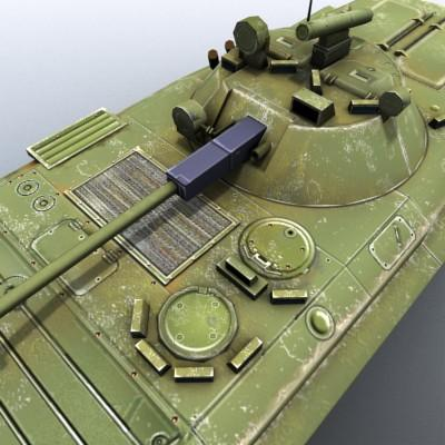 3D Model of Low-poly Soviet AFV BMP-2 - 3D Render 5