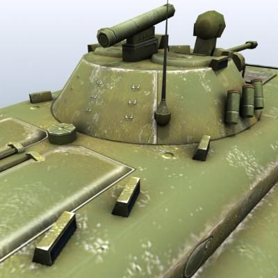 3D Model of Low-poly Soviet AFV BMP-2 - 3D Render 6