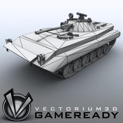 3D Model of Low-poly Soviet AFV BMP-2 - 3D Render 8