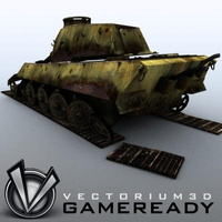 3D Model Download - Game Ready King Tiger 08