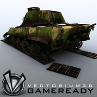 3D Model Download - Game Ready King Tiger 07
