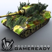 3D Model Download - Game Ready King Tiger 06