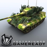 3D Model Download - Game Ready King Tiger 04