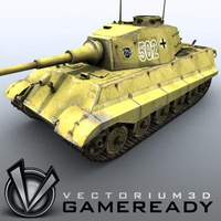 3D Model Download - Game Ready King Tiger 02
