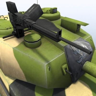 3D Model of Game-ready model of Chinese PTL02 100mm Wheeled Assault Gun - 3D Render 6