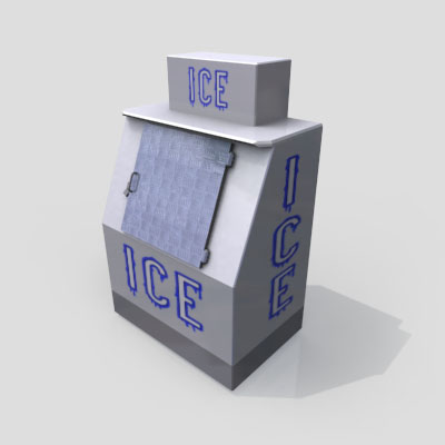3D Model of A basic ice-box, as seen outside a gas-station near you! - 3D Render 0
