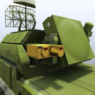 3D Model of Game-ready model of modern Russian/Chinese SAM TOR-M1 (SA-15 Gauntlet) with two RGB textures (2048x2048 and 1024x512) and one RGBA (512x512) texture for radar. - 3D Render 6