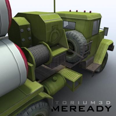 3D Model of Game-ready model of modern Russian/Chinese SAM S-300PMU (SA-10 Grumble). - 3D Render 5
