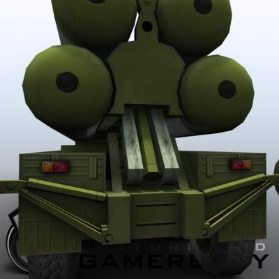 3D Model of Game-ready model of modern Russian/Chinese SAM S-300PMU (SA-10 Grumble). - 3D Render 6