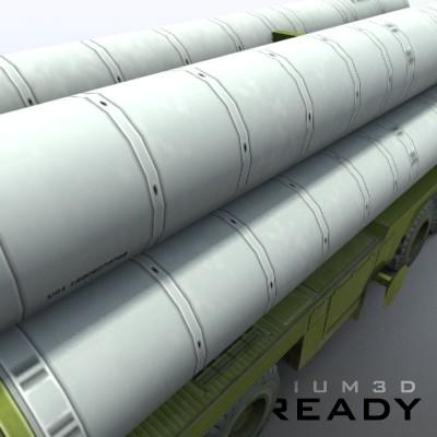 3D Model of Game-ready model of modern Russian/Chinese SAM S-300PMU (SA-10 Grumble). - 3D Render 7