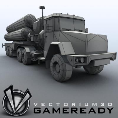 3D Model of Game-ready model of modern Russian/Chinese SAM S-300PMU (SA-10 Grumble). - 3D Render 8