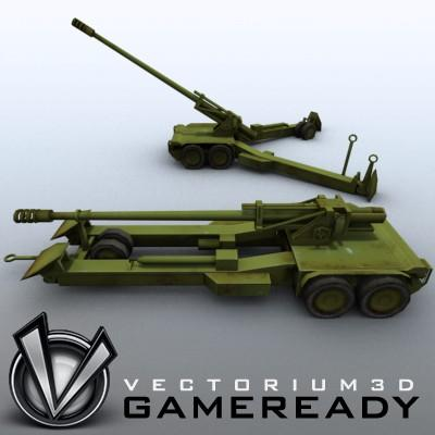 3D Model of Low res model of modern Chinese howitzer PLL01 (W88/890). - 3D Render 3