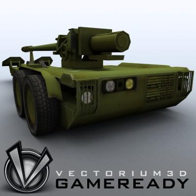 3D Model of Low res model of modern Chinese howitzer PLL01 (W88/890). - 3D Render 5