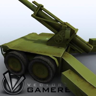 3D Model of Low res model of modern Chinese howitzer PLL01 (W88/890). - 3D Render 6