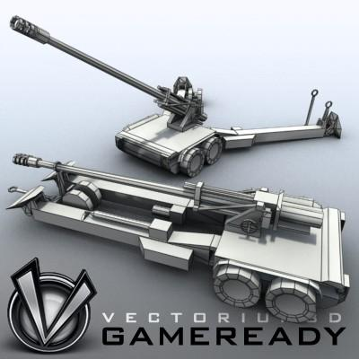 3D Model of Low res model of modern Chinese howitzer PLL01 (W88/890). - 3D Render 7