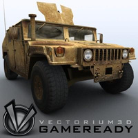 3D Model Download - Game Ready - Humvee - HardTop