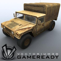 3D Model Download - Game Ready - Humvee - WarHorse 01