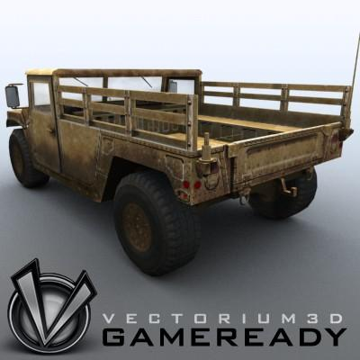 3D Model of Low poly model of HUMVEE with one 1024x1024 diffusion/opacity TGA texture - 3D Render 0