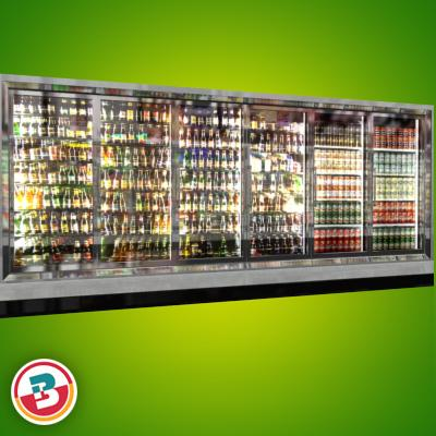 3D Model of Grocery Store Freezer Wall - 3D Render 4