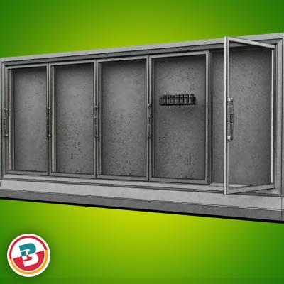 3D Model of Grocery Store Freezer Wall - 3D Render 8