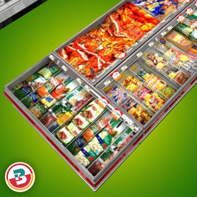 3D Model of Grocery Store Freezer Aisle - 3D Render 10