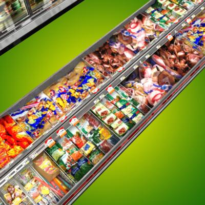 3D Model of Grocery Store Freezer Aisle - 3D Render 11