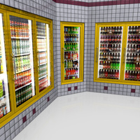 3D Model Download - Grocery - Beverage Coolers