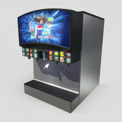 3D Model of Realistic 3D model of a typical 16 flavour fountain pop machine. - 3D Render 0