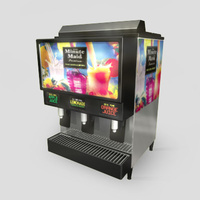3D Model Download - Grocery - Juice Machine - 3 Flavour