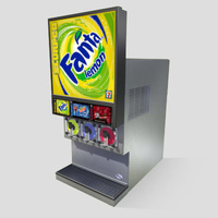 3D Model Download - Grocery - Slurpee Machine - 3 Flavour