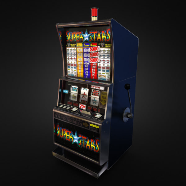 3D Model of Casino Collection :: Realistic Detailed Slot Machine 1. - 3D Render 2