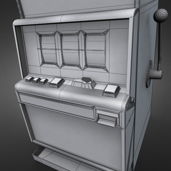 3D Model of Casino Collection :: Realistic Detailed Slot Machine 1. - 3D Render 9