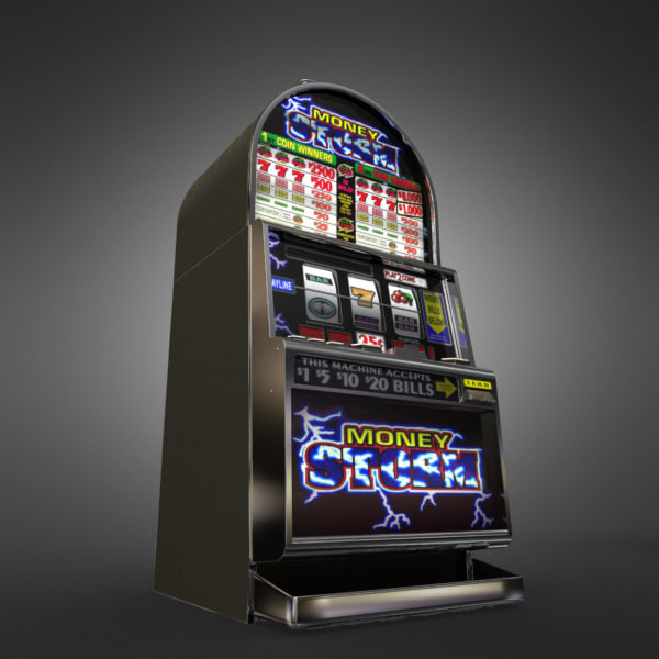 3D Model of Casino Collection :: Realistic Detailed Slot Machine 1. - 3D Render 3