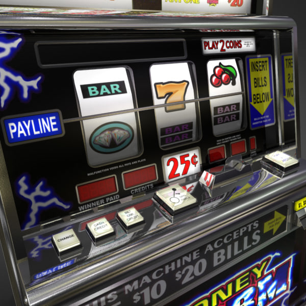 3D Model of Casino Collection :: Realistic Detailed Slot Machine 1. - 3D Render 6