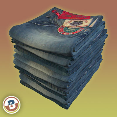 3D Model of Clothing Series - Realistic Folded Jeans - 3D Render 3