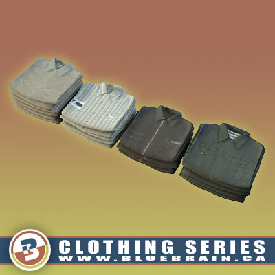 3D Model of Clothing Series - Realistic Folded Long-Sleeved Shirts - 3D Render 0