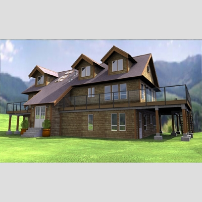3D Model of Realistic Country House - 3D Render 3