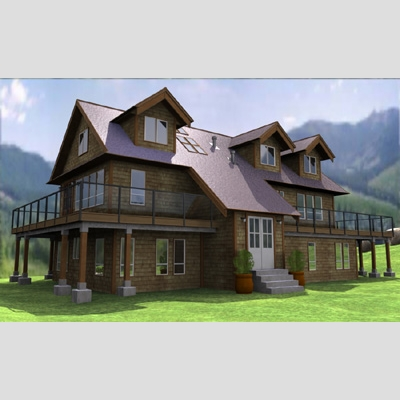 3D Model of Realistic Country House - 3D Render 4