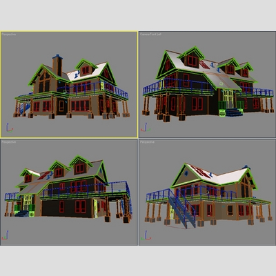 3D Model of Realistic Country House - 3D Render 5