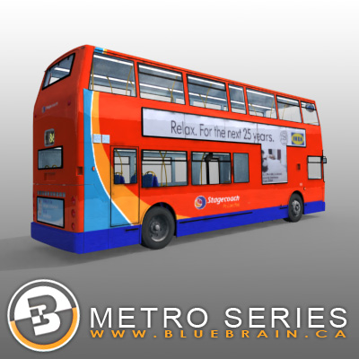 3D Model of Highly detailed London Bus. - 3D Render 1